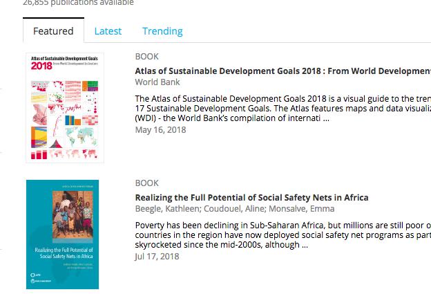 قاعدة open knowledge للبنك الدولي كتب دراسات و احصائيات و تقارير مجانية